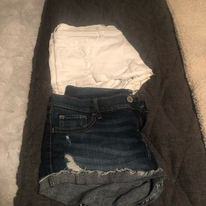 Hollister distressed shorts size 5